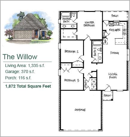 The Willow Floorplan