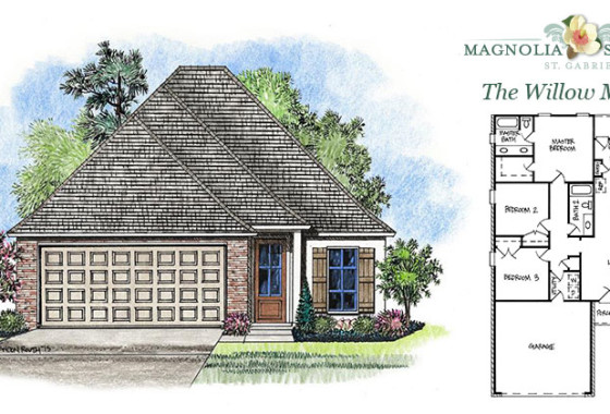 Real Estate Listing - Willow Model New Home in Magnolia Springs Louisiana