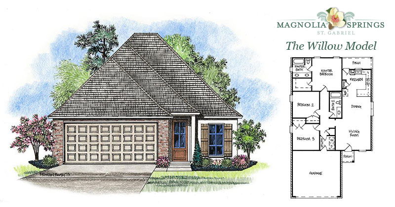 The willow model home magnolia springs community louisiana for The willow house plan