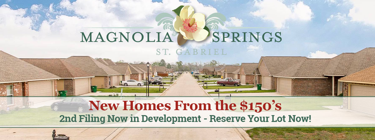 Magnolia Springs Homes in St Gabriel LA