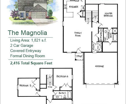 The Magnolia Floor Plan layout image