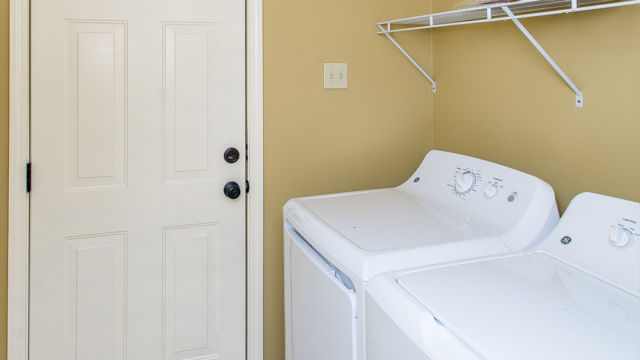Laundry room of the Willow Model in Magnolia Springs