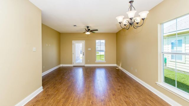 Living area of the Willow Model in Magnolia Springs