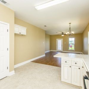 View from kitchen in the Willow floorplan