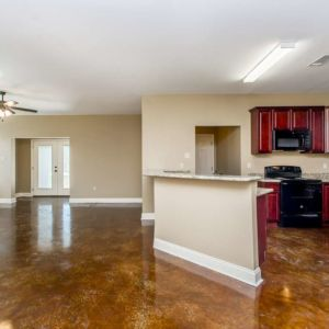 Cypress Model Full Living and Kitchen Area