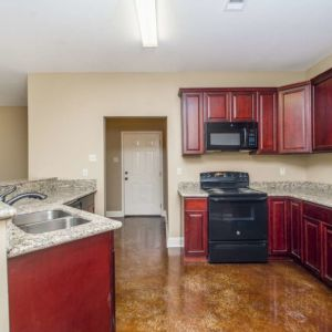 Cypress Model Kitchen Area and Cabinets in Magnolia Springs