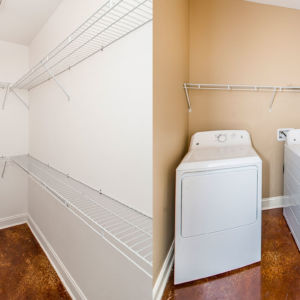 Cypress Model Home Closet and Washer Dryer