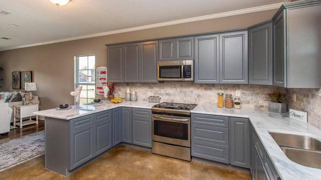 Full kitchen area in the Magnolia model home