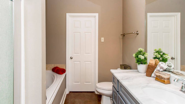 Bathroom view of the Magnolia model home